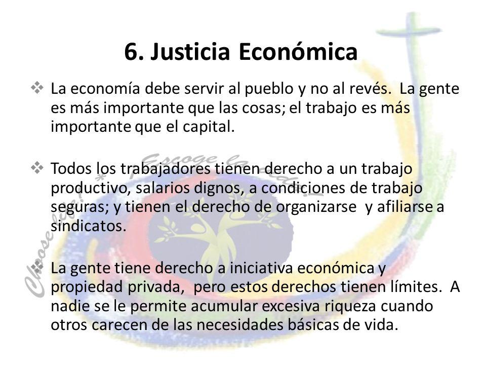 6. Justicia Económica
