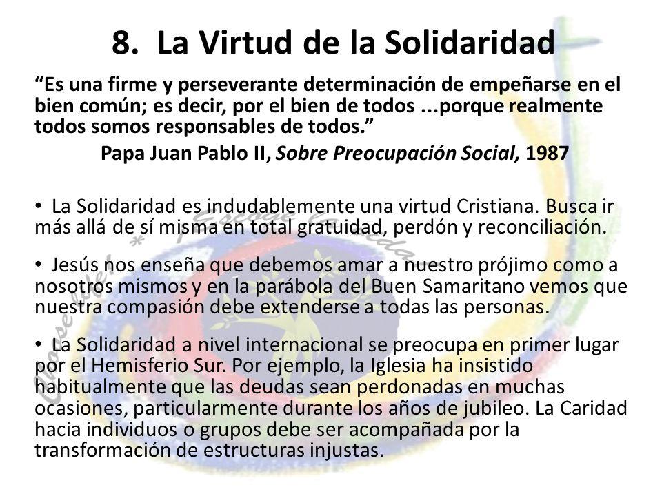 8. La Virtud de la Solidaridad
