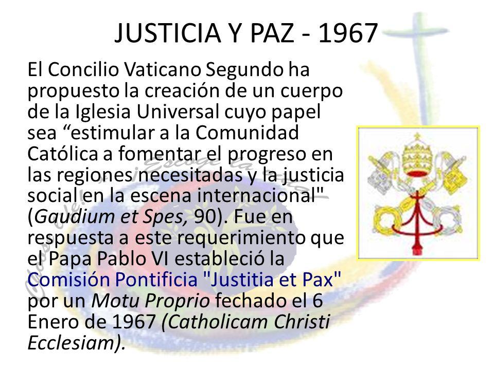 JUSTICIA Y PAZ - 1967
