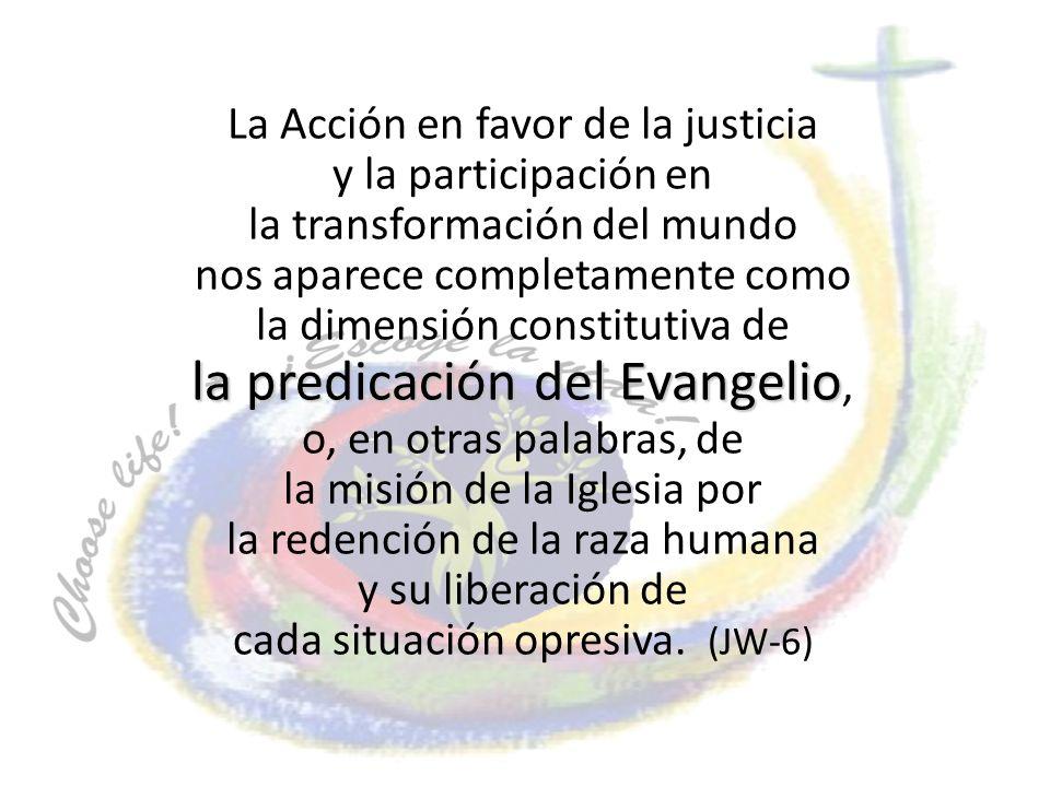la predicación del Evangelio,