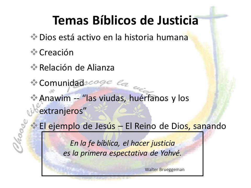 Temas Bíblicos de Justicia