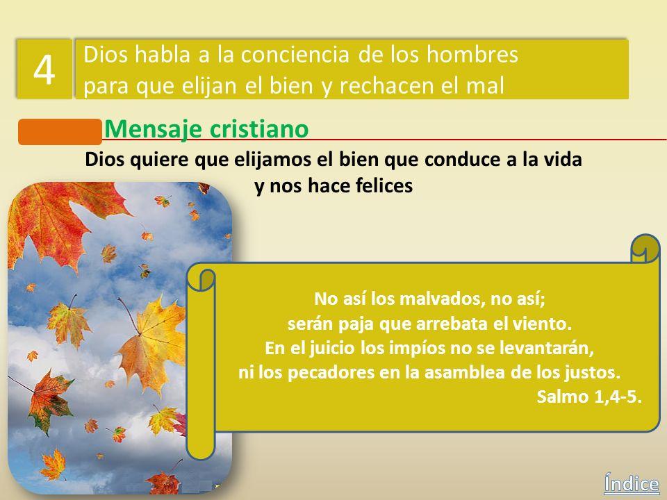 4 Mensaje cristiano Dios habla a la conciencia de los hombres