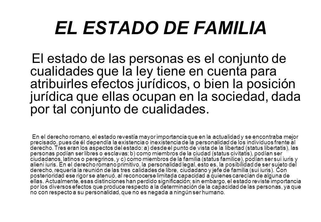 EL ESTADO DE FAMILIA
