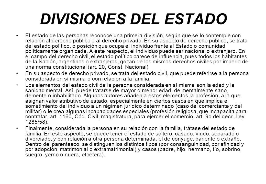 DIVISIONES DEL ESTADO