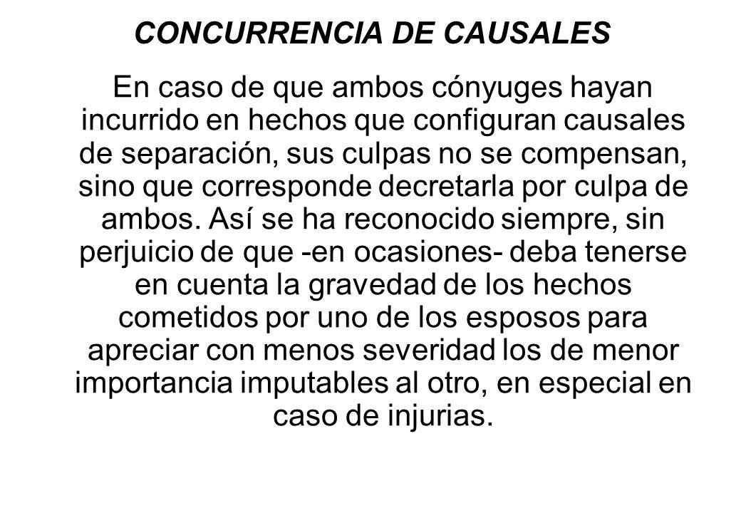 CONCURRENCIA DE CAUSALES