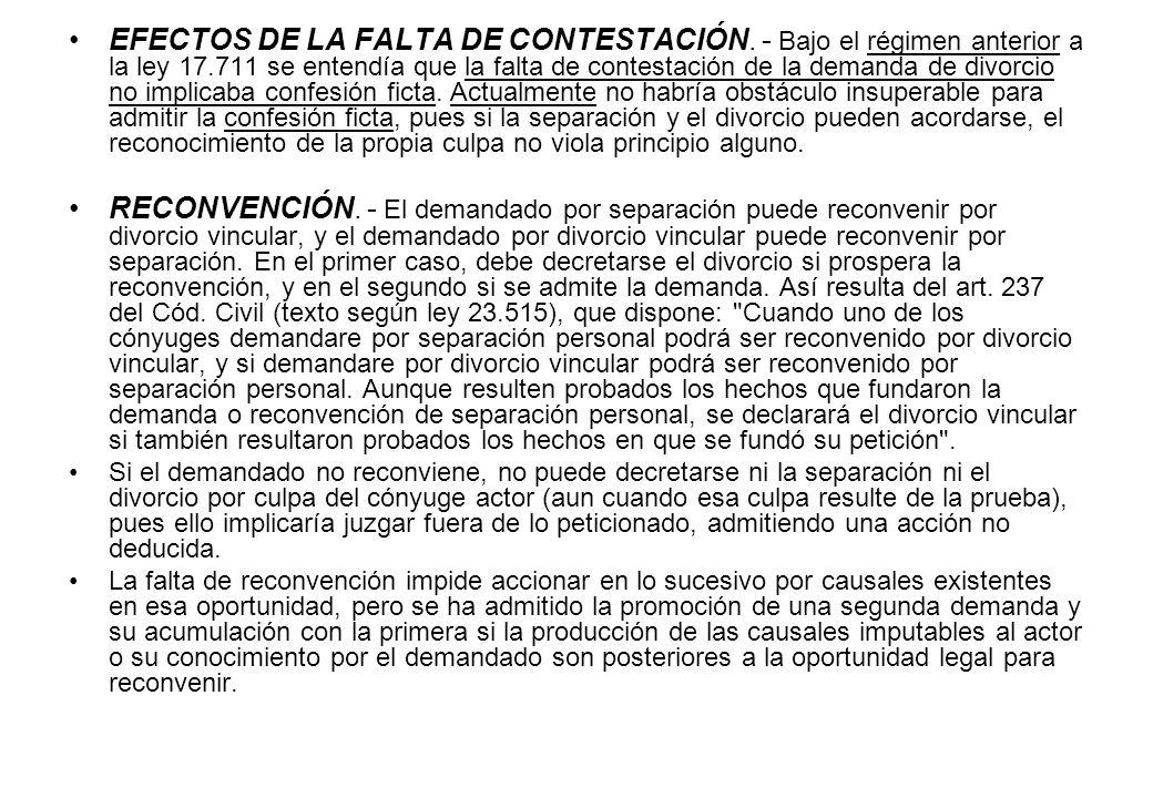 EFECTOS DE LA FALTA DE CONTESTACIÓN