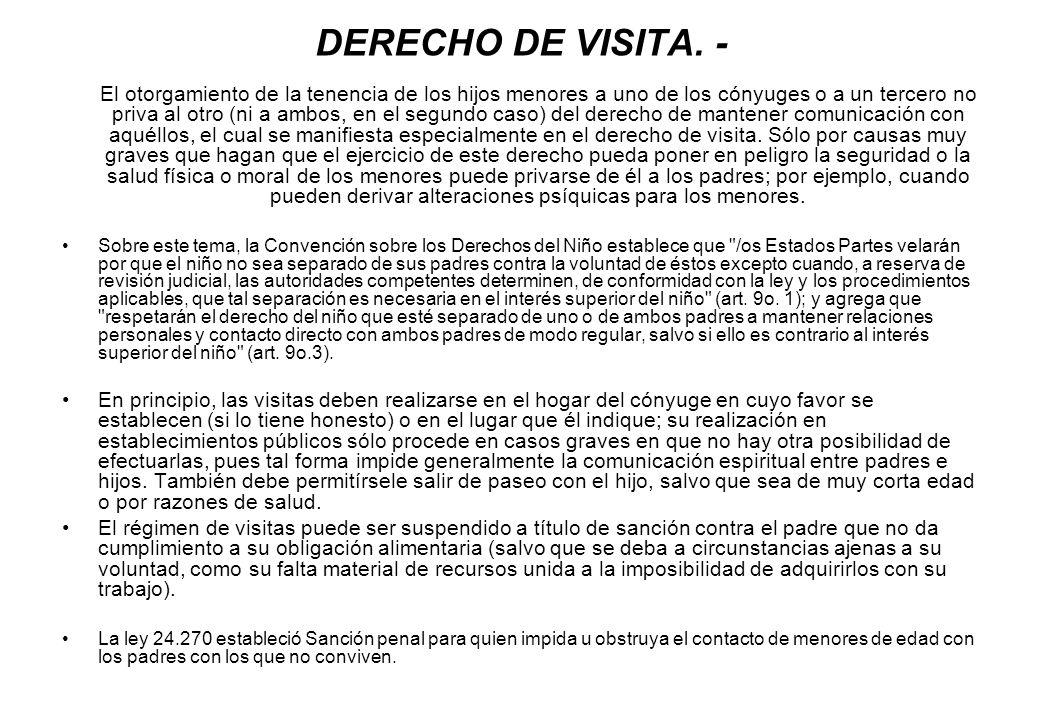 DERECHO DE VISITA. -