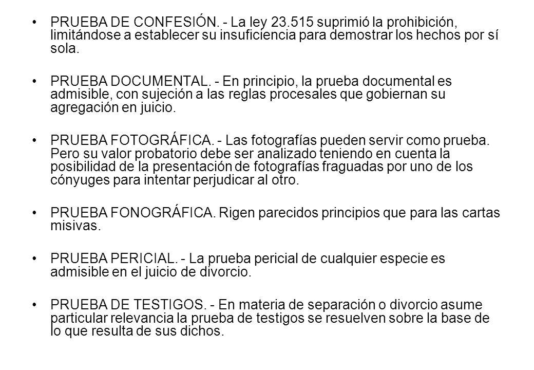 PRUEBA DE CONFESIÓN. - La ley 23