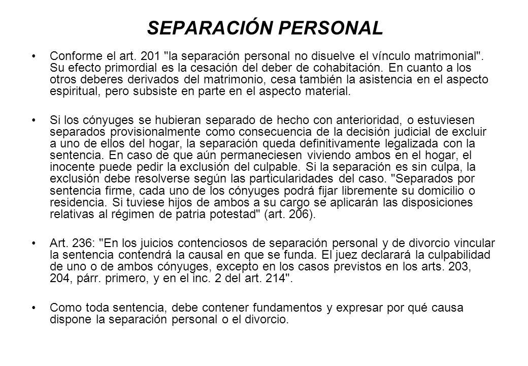 SEPARACIÓN PERSONAL