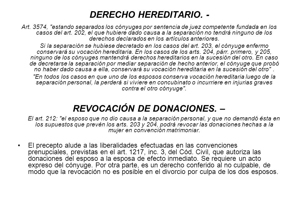REVOCACIÓN DE DONACIONES. –