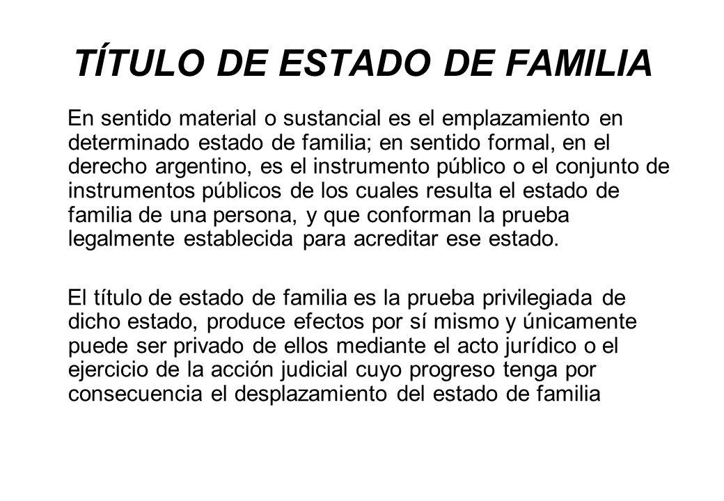 TÍTULO DE ESTADO DE FAMILIA