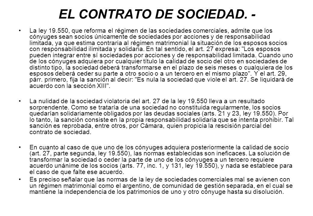 EL CONTRATO DE SOCIEDAD. -