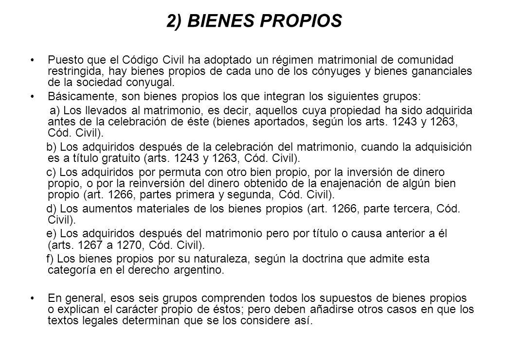 2) BIENES PROPIOS