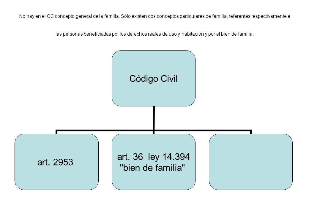 No hay en el CC concepto general de la familia
