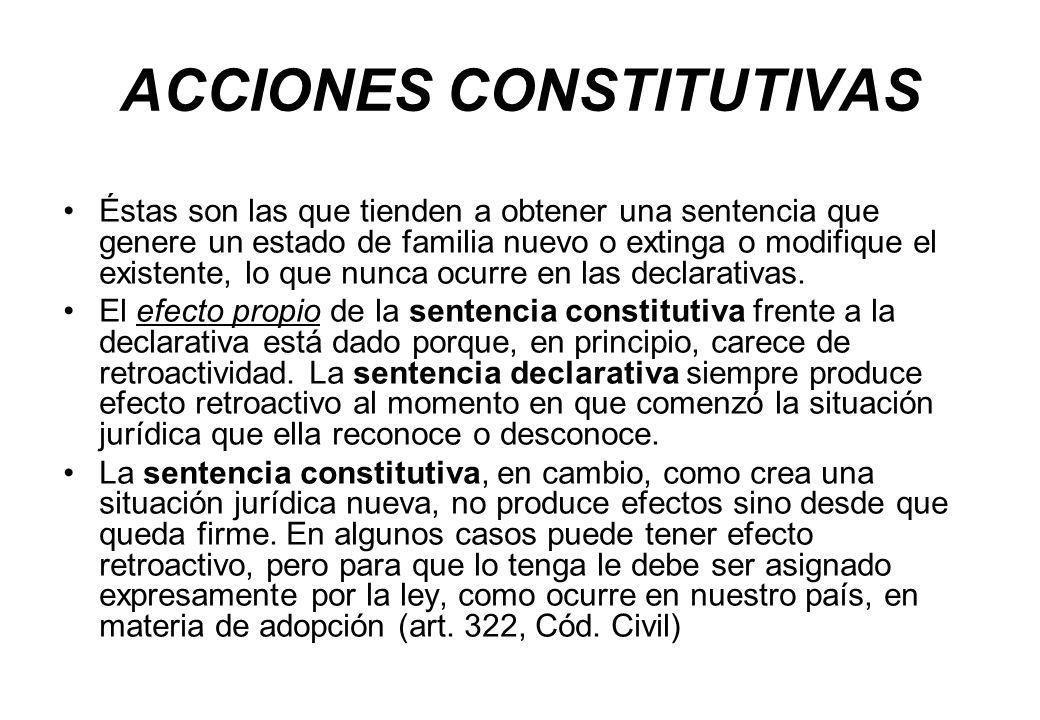 ACCIONES CONSTITUTIVAS