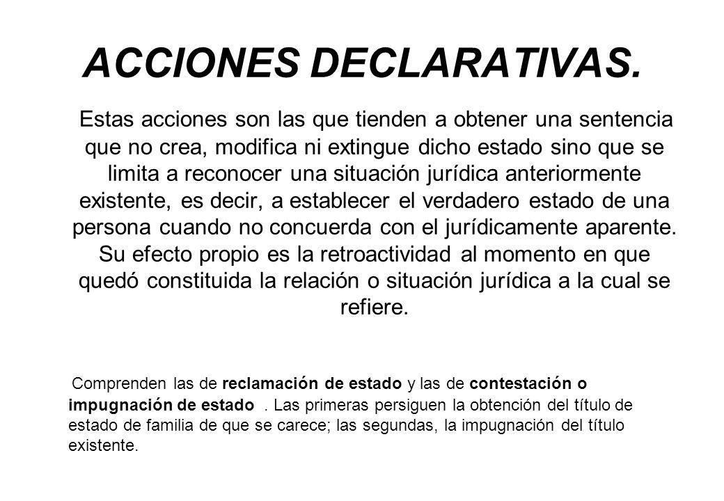 ACCIONES DECLARATIVAS.