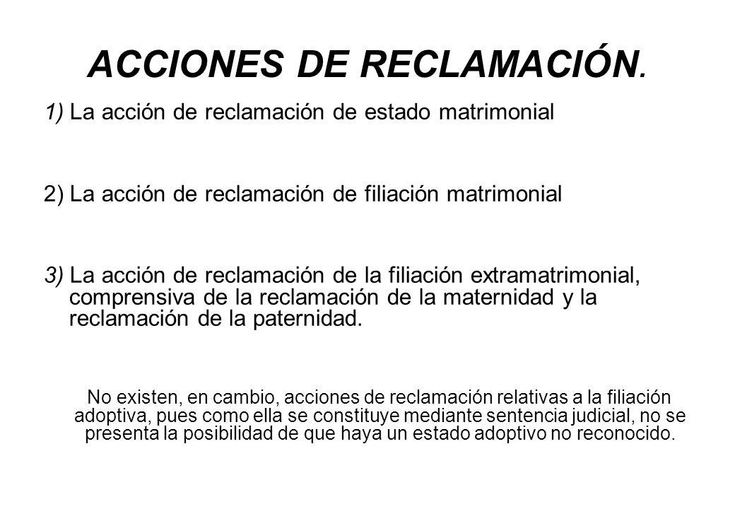 ACCIONES DE RECLAMACIÓN.