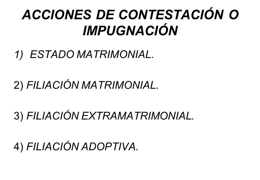 ACCIONES DE CONTESTACIÓN O IMPUGNACIÓN