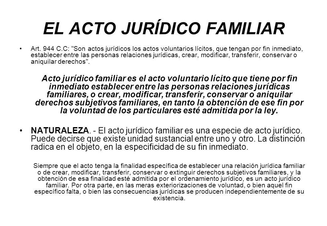EL ACTO JURÍDICO FAMILIAR