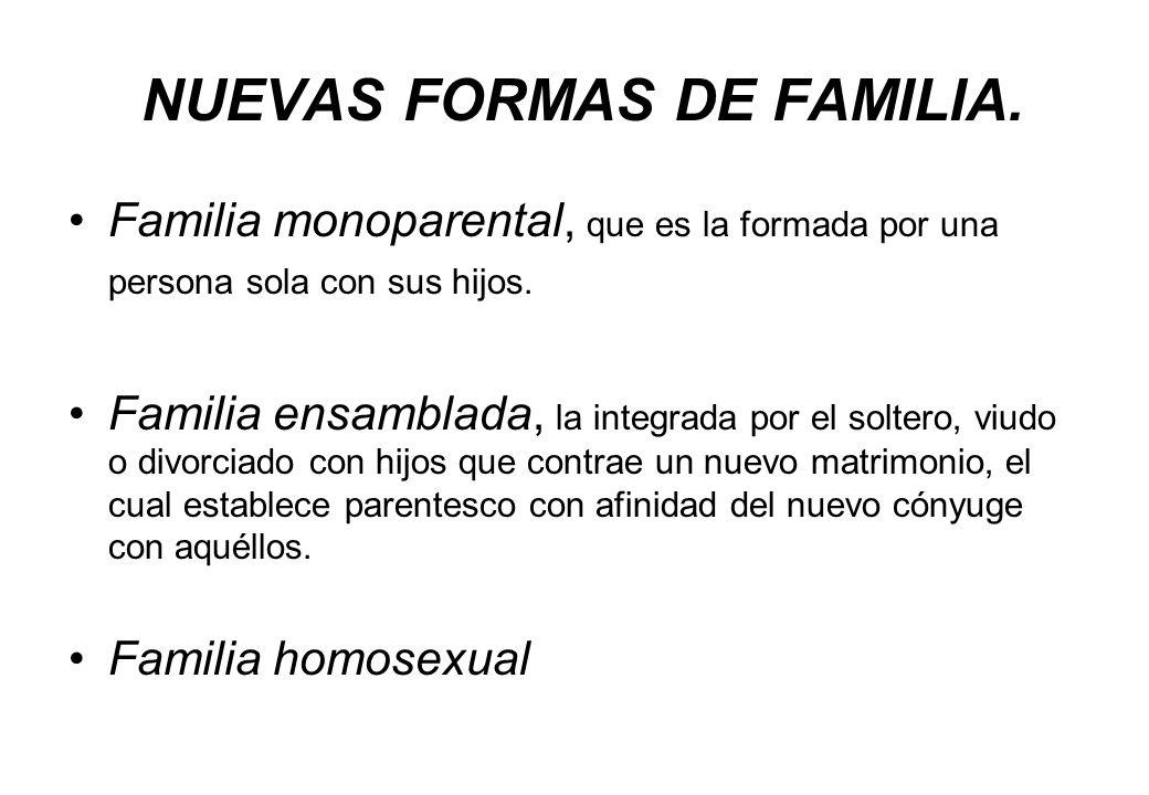 NUEVAS FORMAS DE FAMILIA.