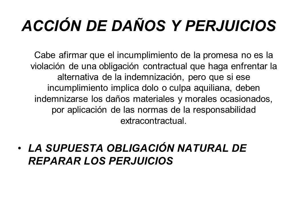ACCIÓN DE DAÑOS Y PERJUICIOS