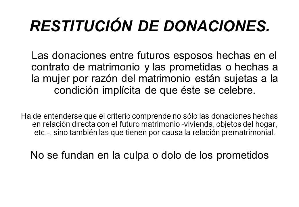 RESTITUCIÓN DE DONACIONES.