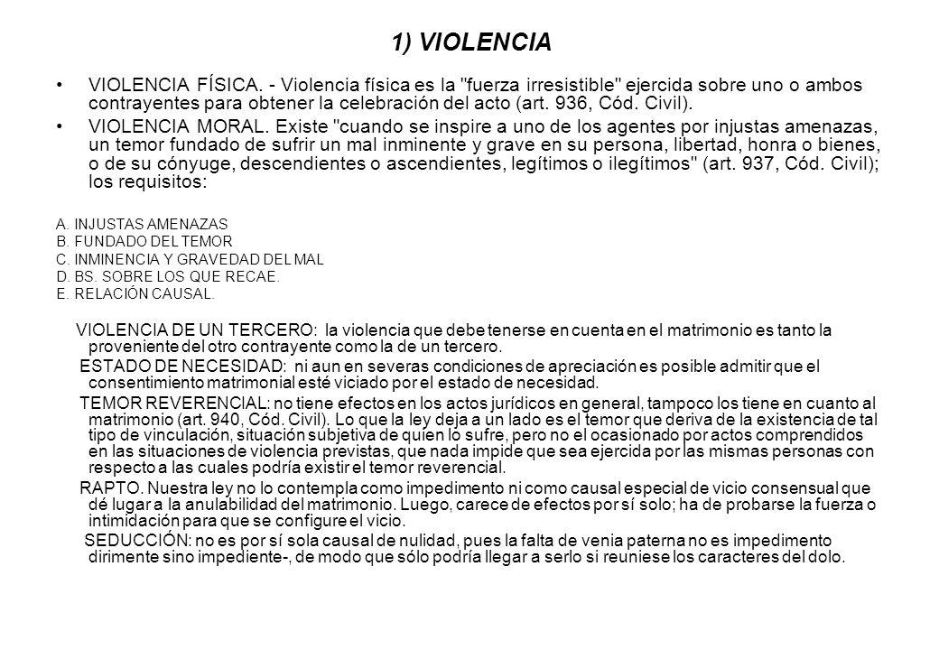 1) VIOLENCIA