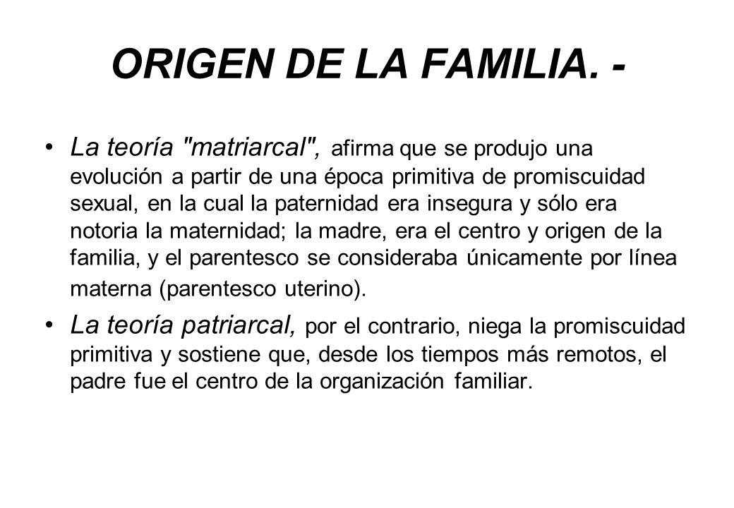 ORIGEN DE LA FAMILIA. -