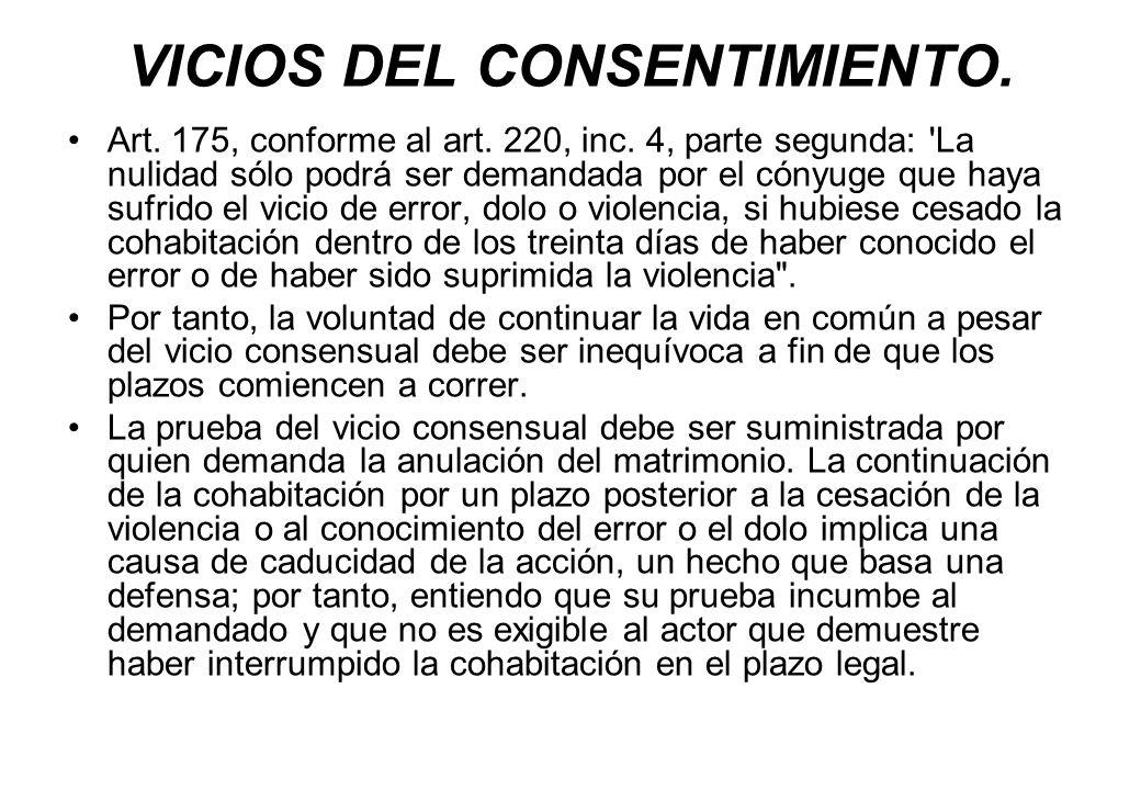 VICIOS DEL CONSENTIMIENTO.