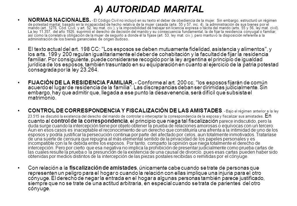 A) AUTORIDAD MARITAL