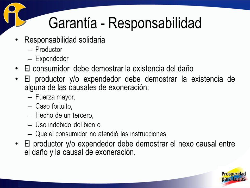 Garantía - Responsabilidad