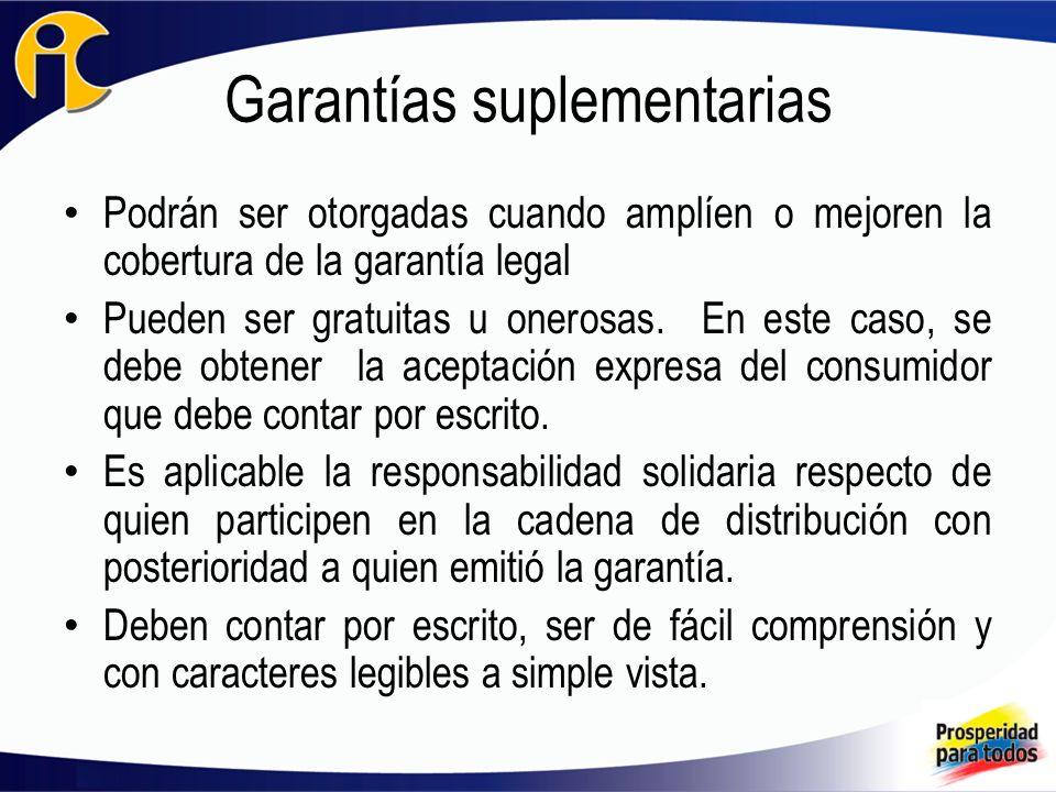 Garantías suplementarias