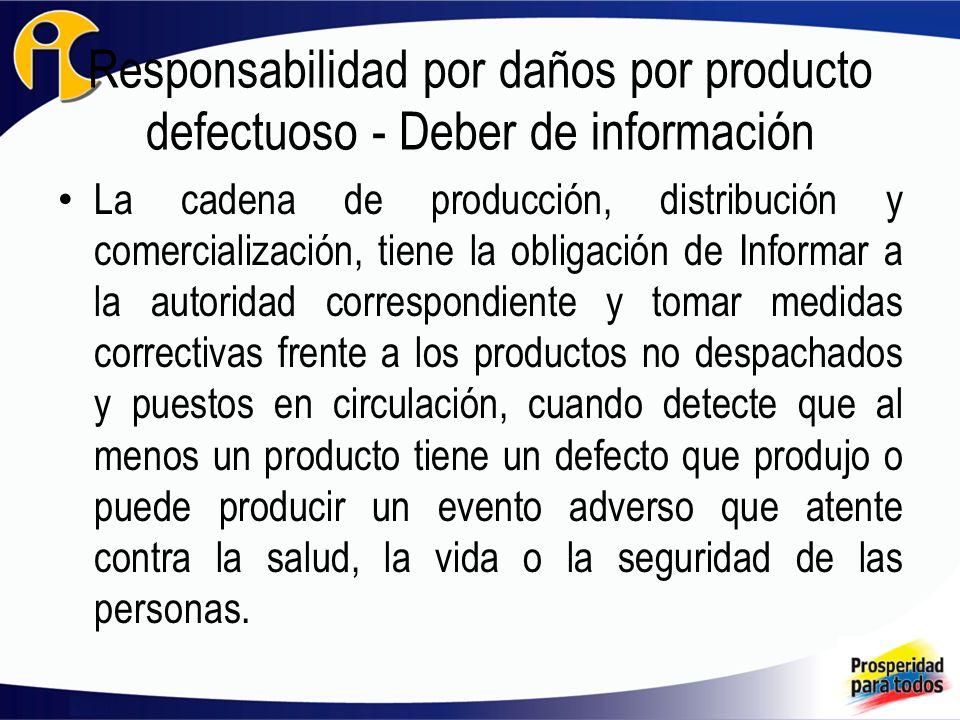 Responsabilidad por daños por producto defectuoso - Deber de información