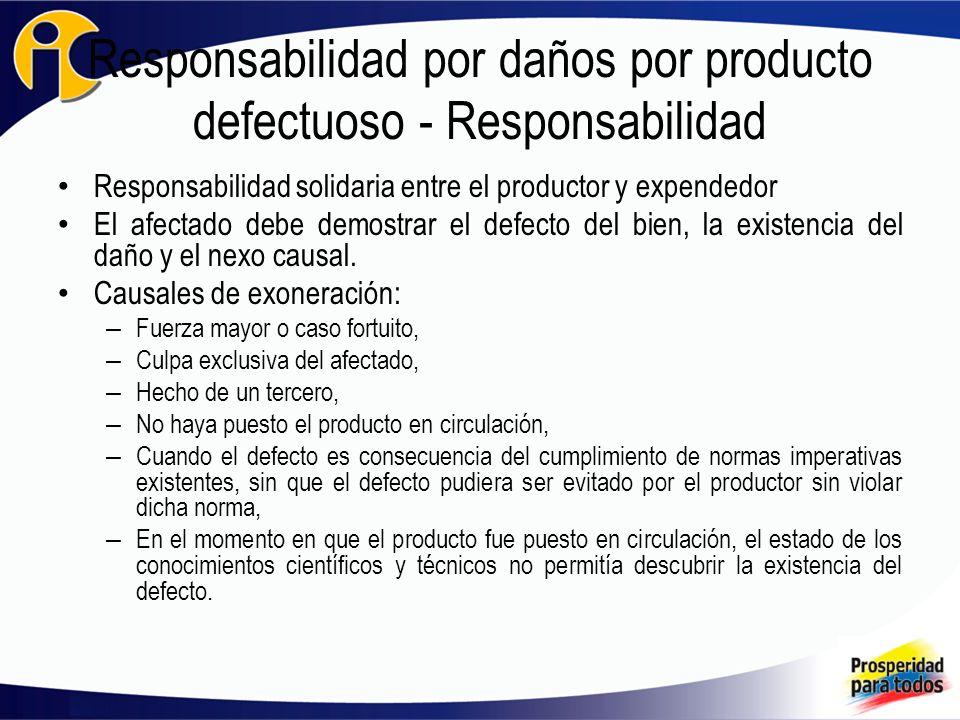 Responsabilidad por daños por producto defectuoso - Responsabilidad