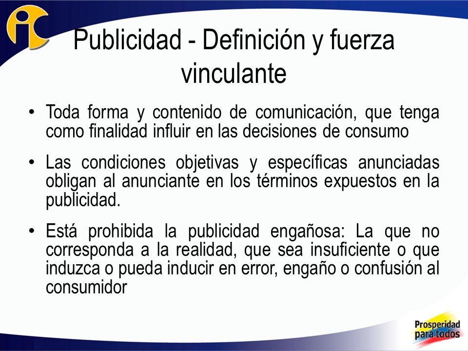 Publicidad - Definición y fuerza vinculante
