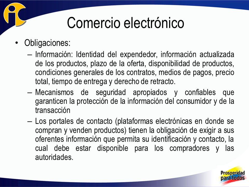 Comercio electrónico Obligaciones: