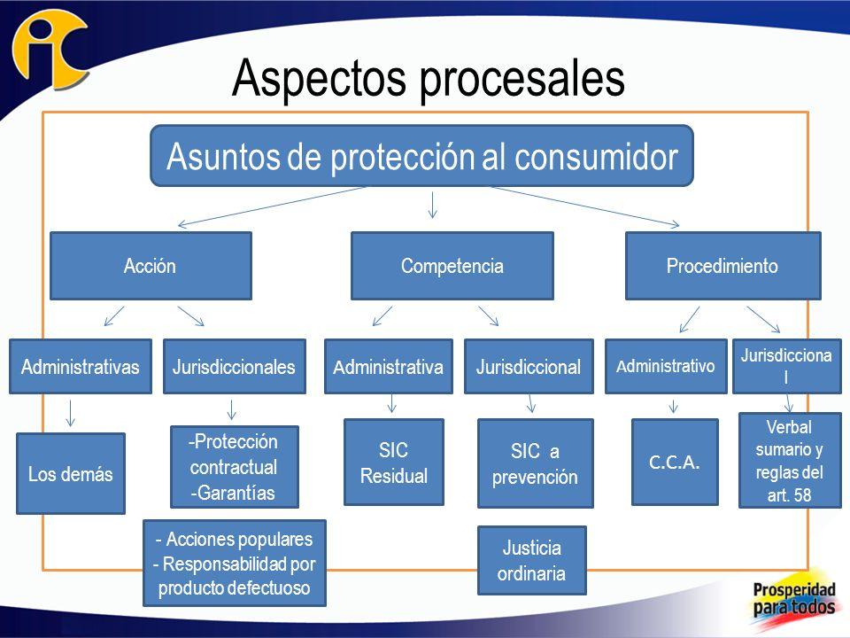 Aspectos procesales Asuntos de protección al consumidor Acción