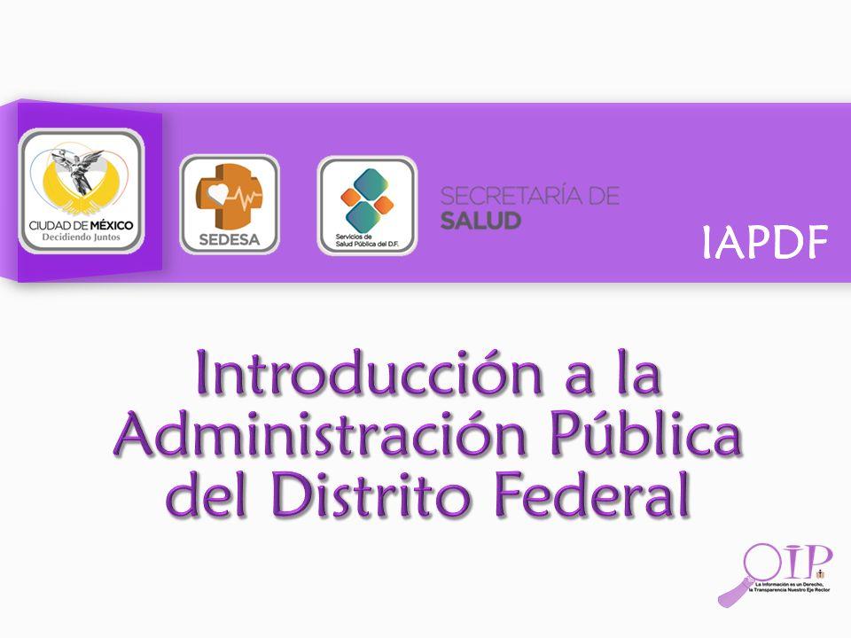 Introducción a la Administración Pública del Distrito Federal