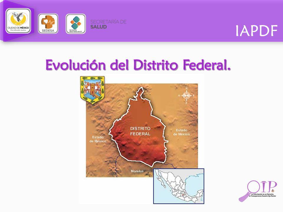 Evolución del Distrito Federal.