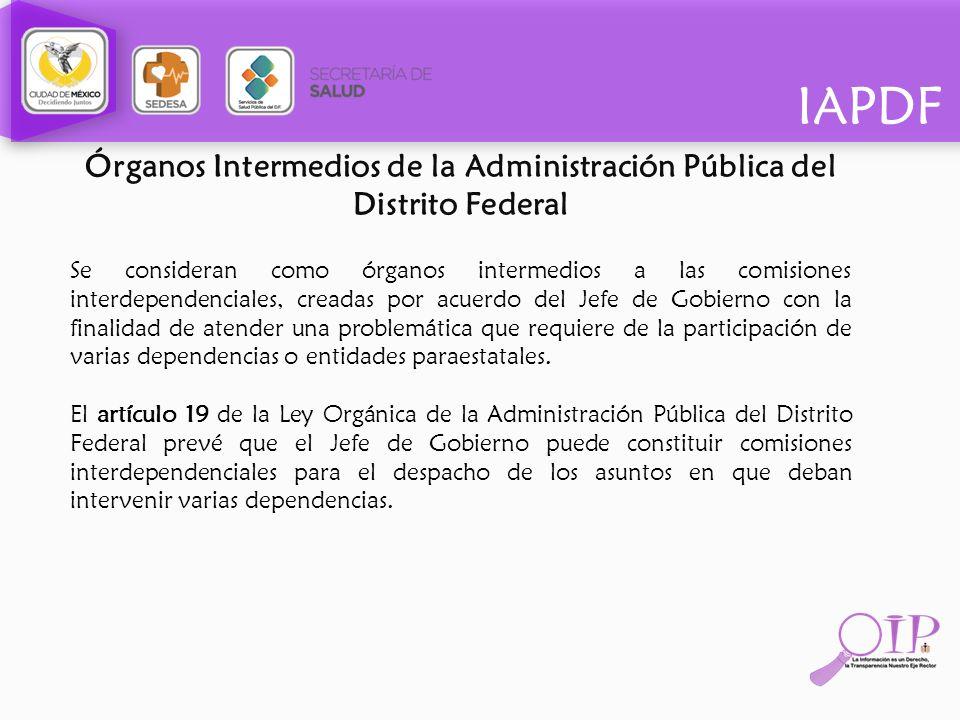 Órganos Intermedios de la Administración Pública del Distrito Federal