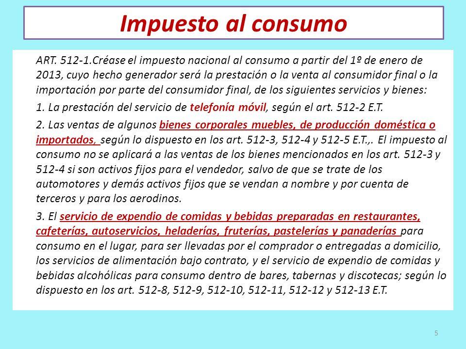 Impuesto al consumo