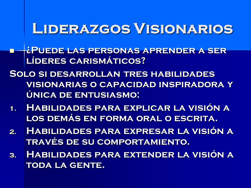 Liderazgos Visionarios