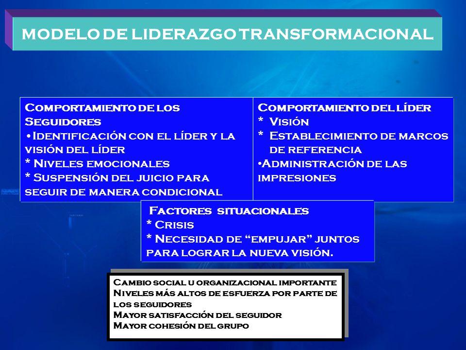 MODELO DE LIDERAZGO TRANSFORMACIONAL