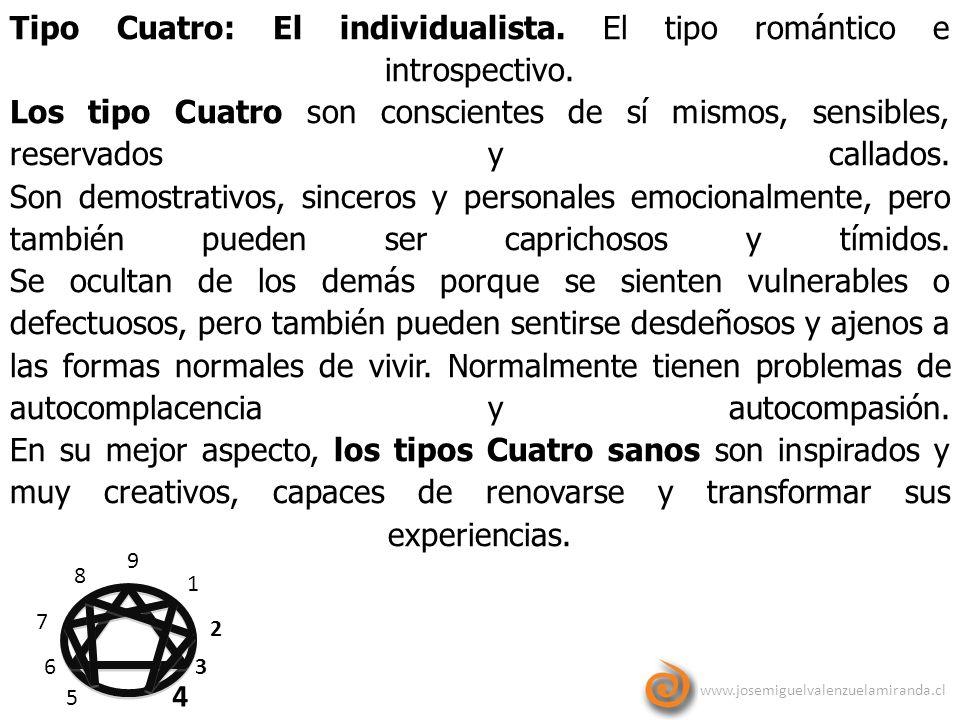 Tipo Cuatro: El individualista. El tipo romántico e introspectivo