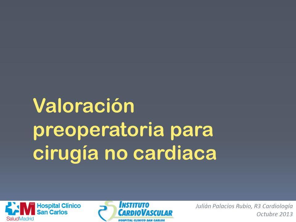 Valoración preoperatoria para cirugía no cardiaca