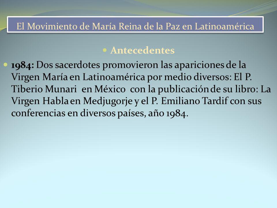 El Movimiento de María Reina de la Paz en Latinoamérica