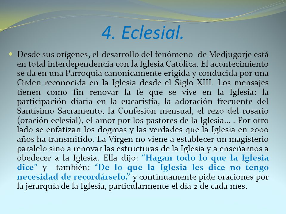 4. Eclesial.