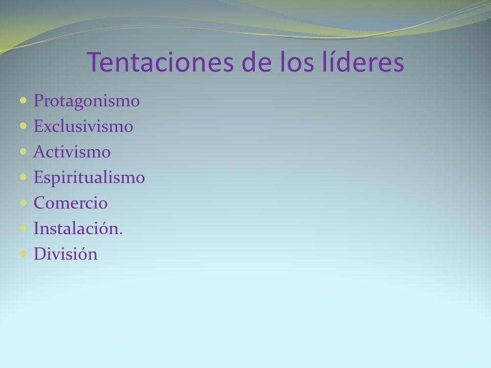 Tentaciones de los líderes