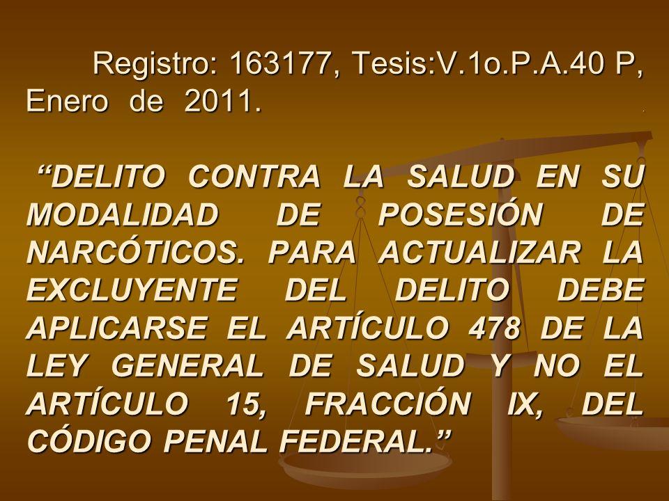Registro: 163177, Tesis:V. 1o. P. A. 40 P, Enero de 2011