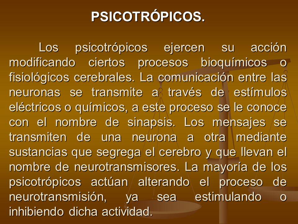 PSICOTRÓPICOS.